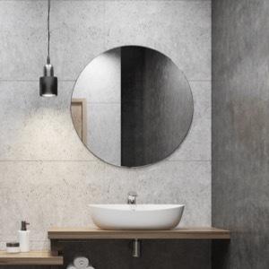 Olohuoneen pyöreä peili (koti on valmis!)