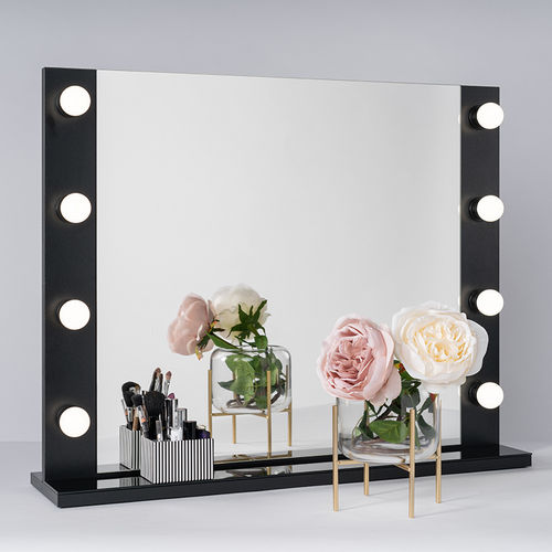 PsLight Makeup Mirror ELLA musta 800 x 650mm
