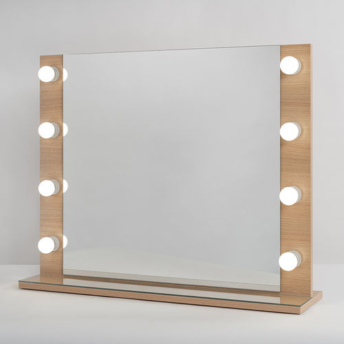 PsLight Makeup Mirror ELLA wood 800 x 650mm