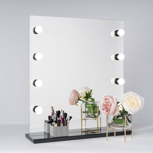 PsLight Makeup Mirror SANNI 650 x 730mm Musta